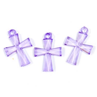 Croix translucide parme (x10) REF/MT631