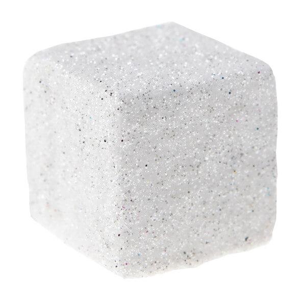 Cube paillete blanc 1