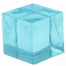 Cube décoratif bleu turquoise (x12) REF/3851