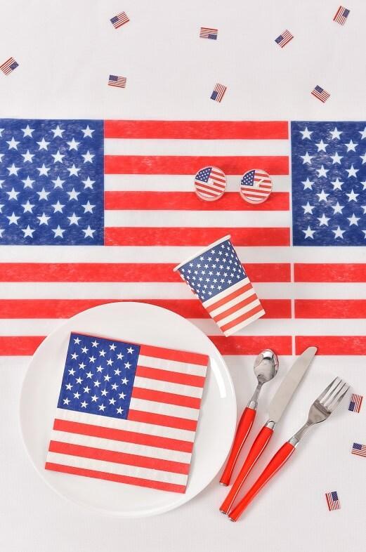 Decor de table avec set amerique usa