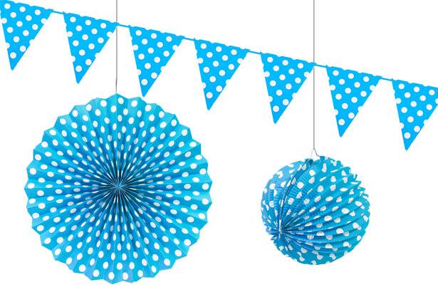 Decoration a suspendre pois bleu