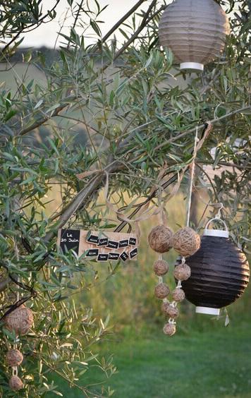 Decoration avec boule corde