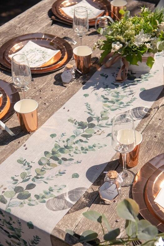 Decoration avec chemin de table champetre bucolique