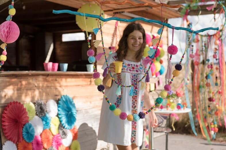 Decoration avec des pompons