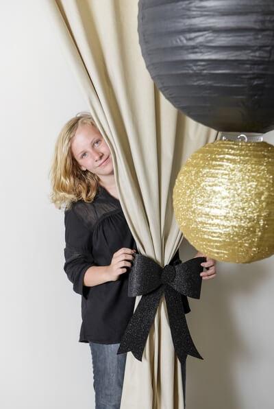 Decoration avec noeud noir