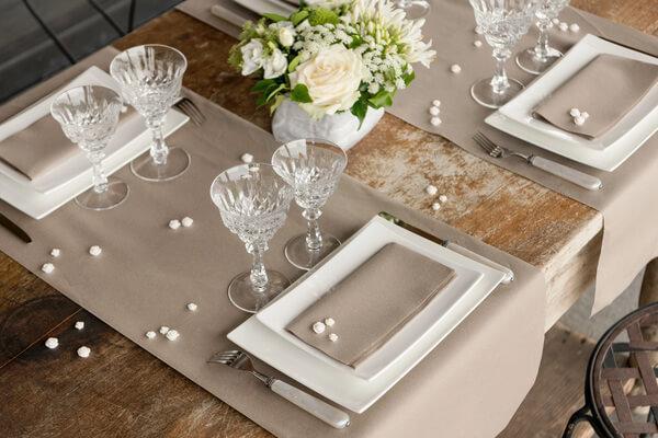 Decoration avec set de table de mariage