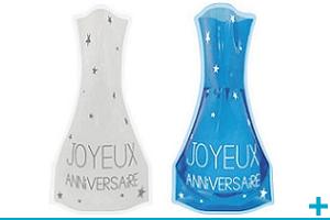 Decoration avec vase en verre anniversaire