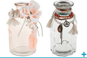 Decoration avec vase en verre tendance