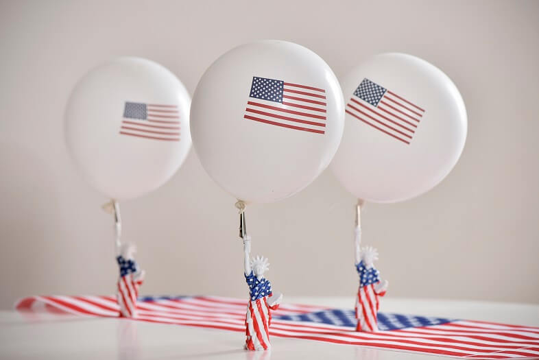 Decoration ballon en latex usa amerique