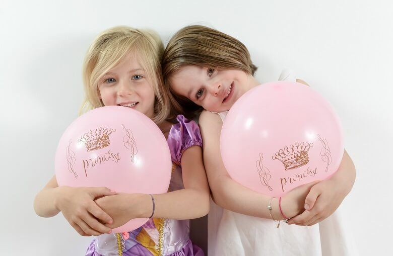 Decoration ballon princesse rose en latex