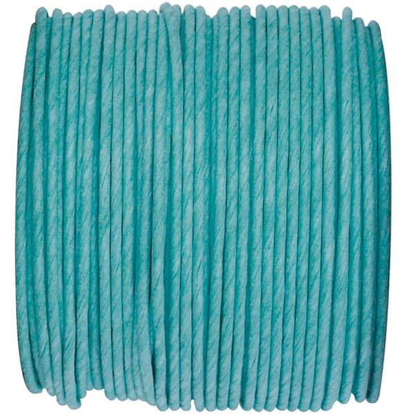 Decoration bobine de cordon laitonne bleu turquoise