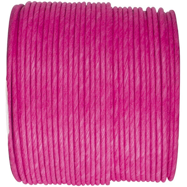 Decoration bobine de cordon laitonne fuchsia