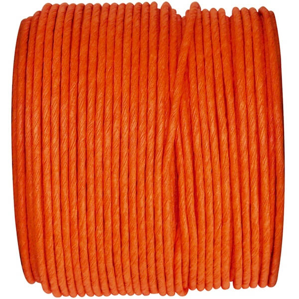 Decoration bobine de cordon laitonne orange