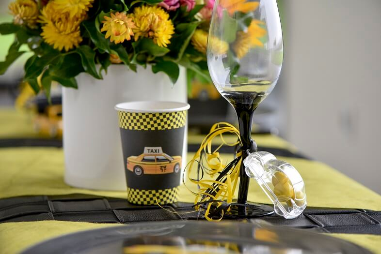 Decoration bolduc jaune