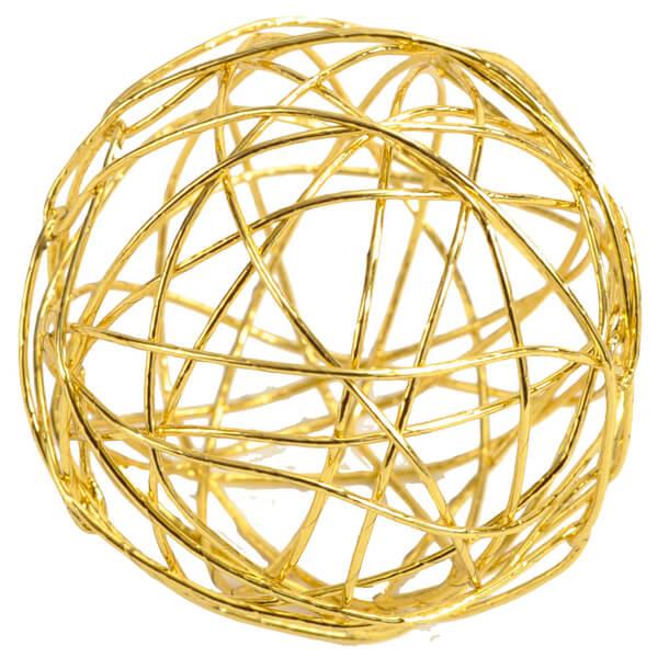 Decoration boule metalique or