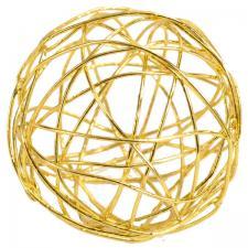 Boule de rotin métallique or (x12) REF/3593
