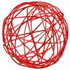 Boule de rotin métallique rouge (x12) REF/3593