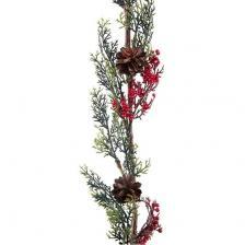 Décoration de Noël avec branche de houx verte et rouge (x1) REF/7150