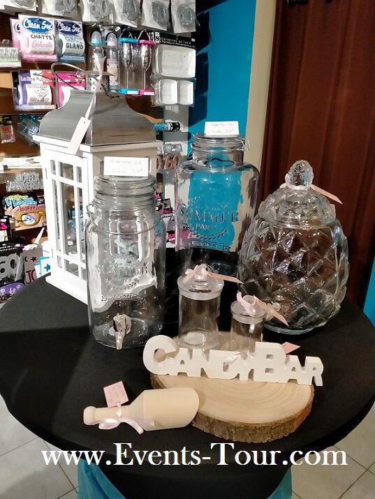 Decoration candy bar avec lettre en bois
