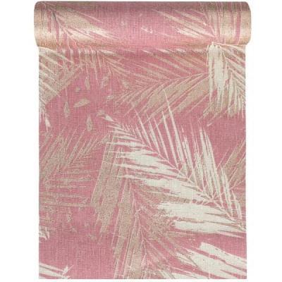 Chemin de table Jungle tropical rose en coton 28cm x 3m (x1) REF/7175