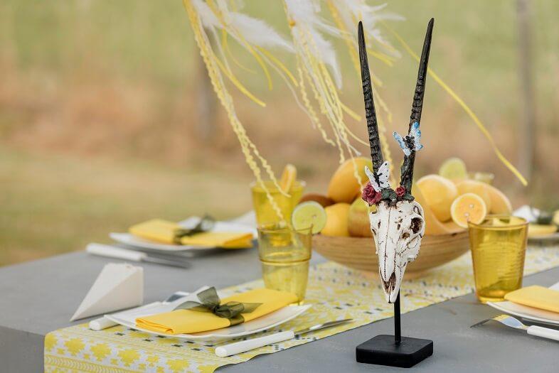 Decoration crane ethnique