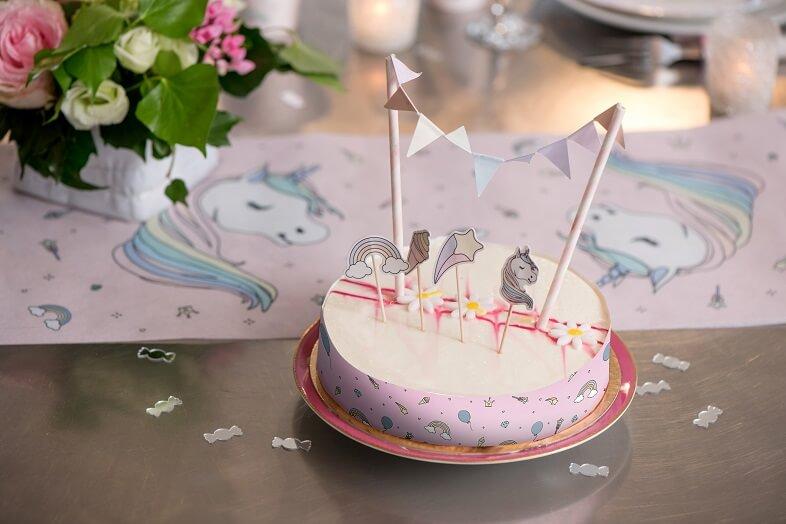 Decoration de gateau anniversaire licorne