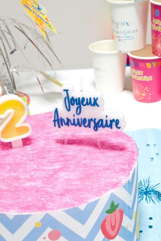 Decoration de gateau d anniversaire avec bougies