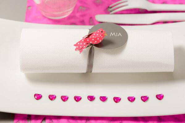 Decoration de mariage fuchsia et blanc