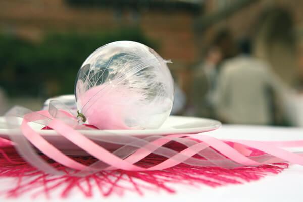 Decoration de mariage rose