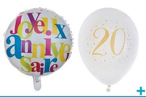 Decoration de salle avec ballon fete anniversaire