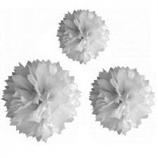 Boule blanche pompon (x3) REF/DEC590