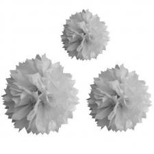 Boule grise pompon (x3) REF/DEC590