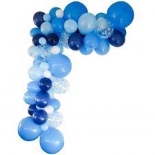 Décoration avec guirlande organique et ballon bleu (x1) REF/50219
