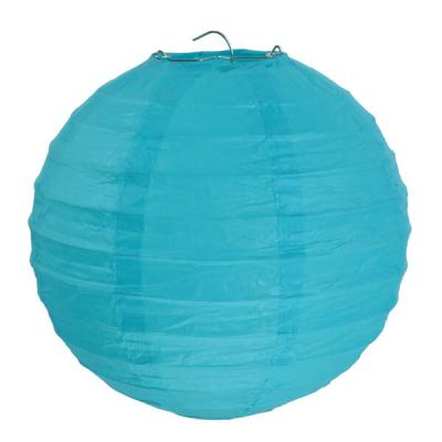 Lanterne bleu turquoise 30cm (x2) REF/4313