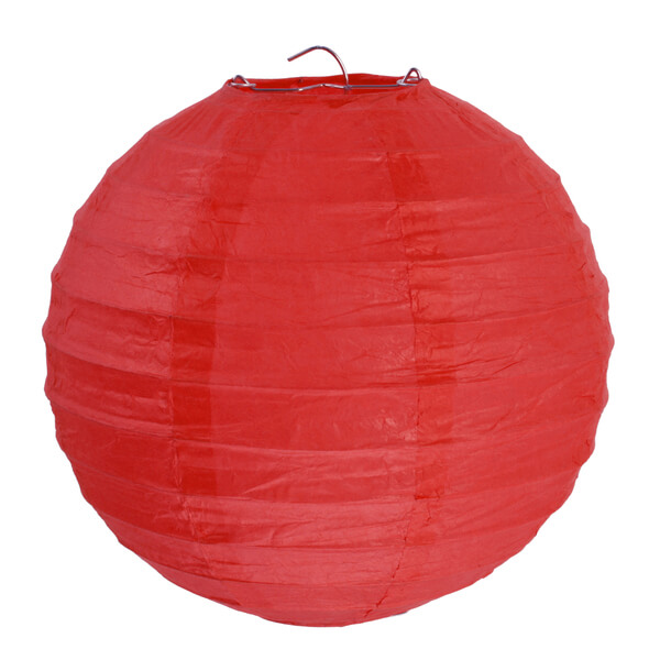 Decoration de salle avec lanterne rouge de 30cm