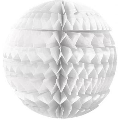 Décoration avec suspension boule éventail blanche 25cm (x1) REF/SBEBA