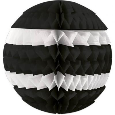 Décoration avec suspension boule éventail noire et blanche 25cm (x1) REF/SBEN