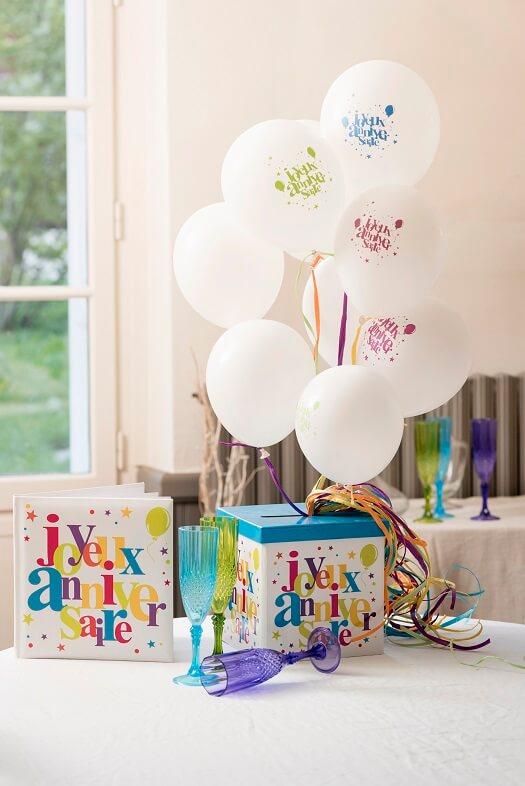 Decoration de salle ballon joyeux anniversaire