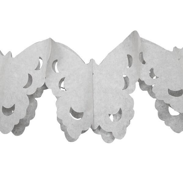 Decoration de salle elegante avec guirlande papillon blanche
