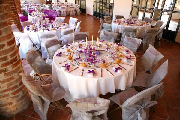 Decoration de salle elegante pour mariage
