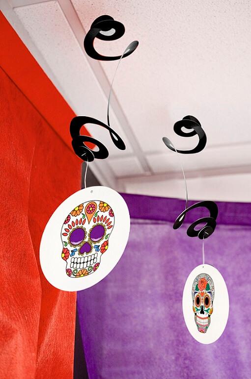 Decoration de salle halloween mexicaine