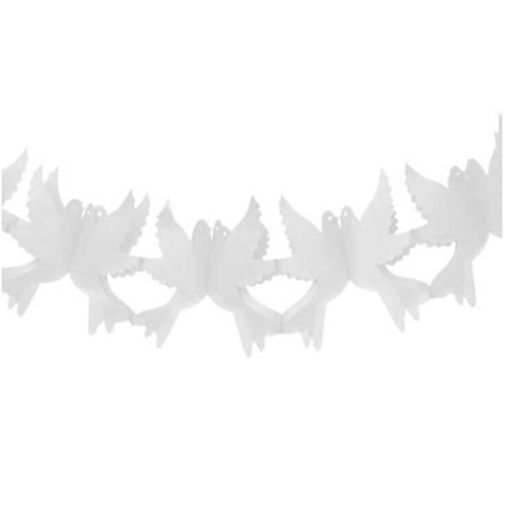 Decoration de salle mariage avec colombe blanche