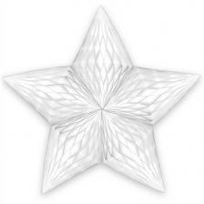Décoration de salle suspension étoile blanche (x1) REF/S3DBA