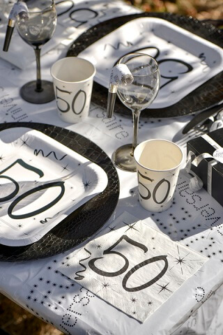 Decoration de serviette anniversaire 50ans