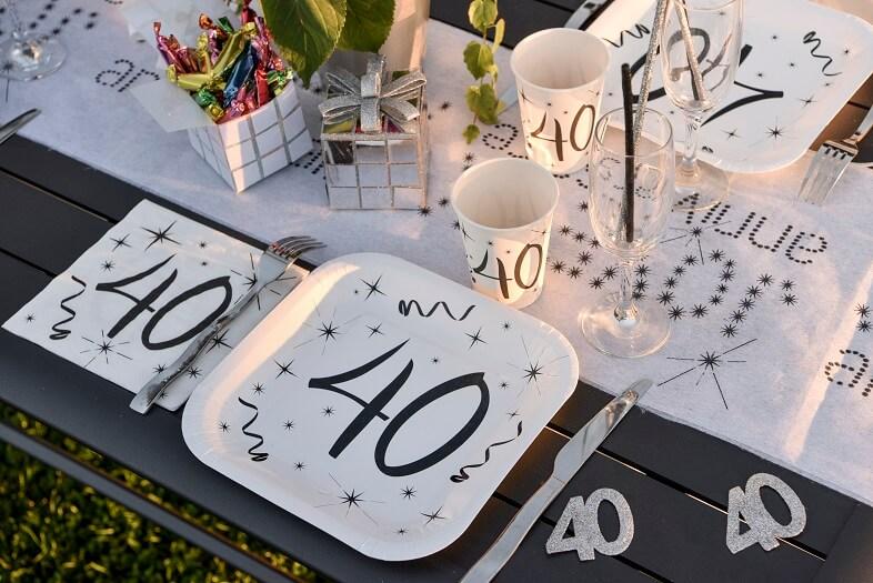 Decoration de table 40 ans anniversaire 1