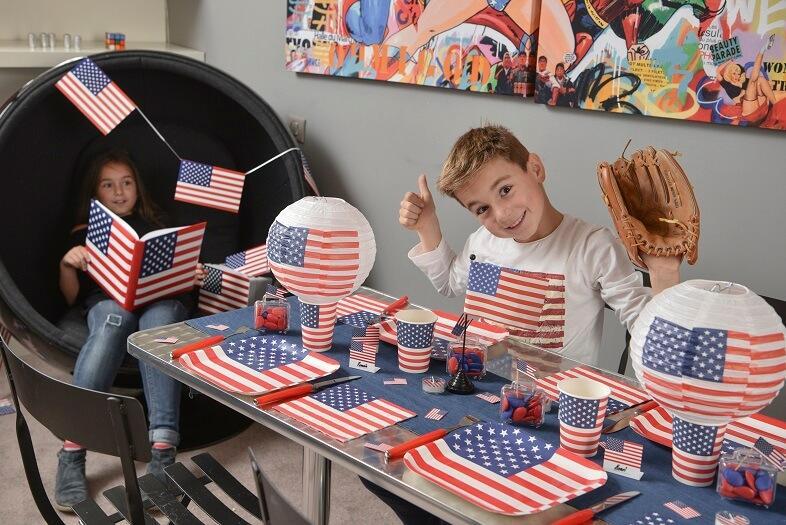 Decoration de table amerique usa avec assiette