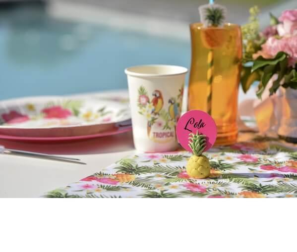 Decoration de table ananas
