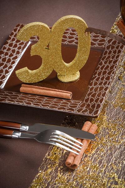 Decoration de table anniversaire 30ans or