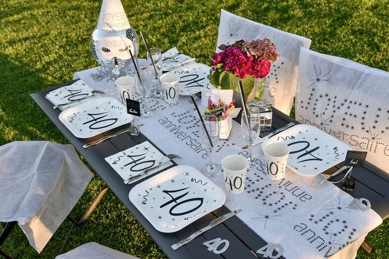 Decoration de table anniversaire 40ans 2