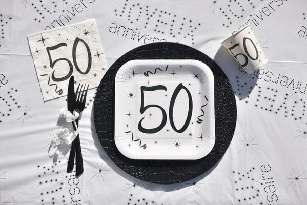 Decoration de table anniversaire 50ans